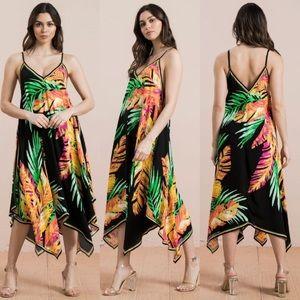 🏝 Tropical Maxi Midi Summer Dress